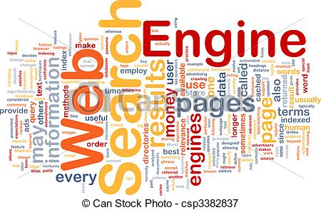 Stock Illustrations of Search engine background concept.
