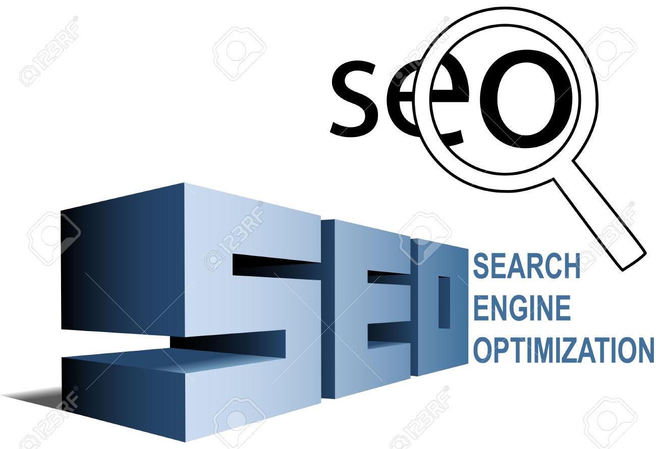 SEO Elements Magnifying Glass Search Engine Optimization Icon.