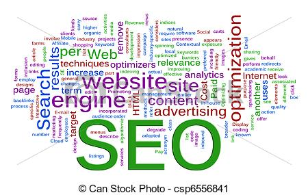 Search Engine Optimization Clip Art.