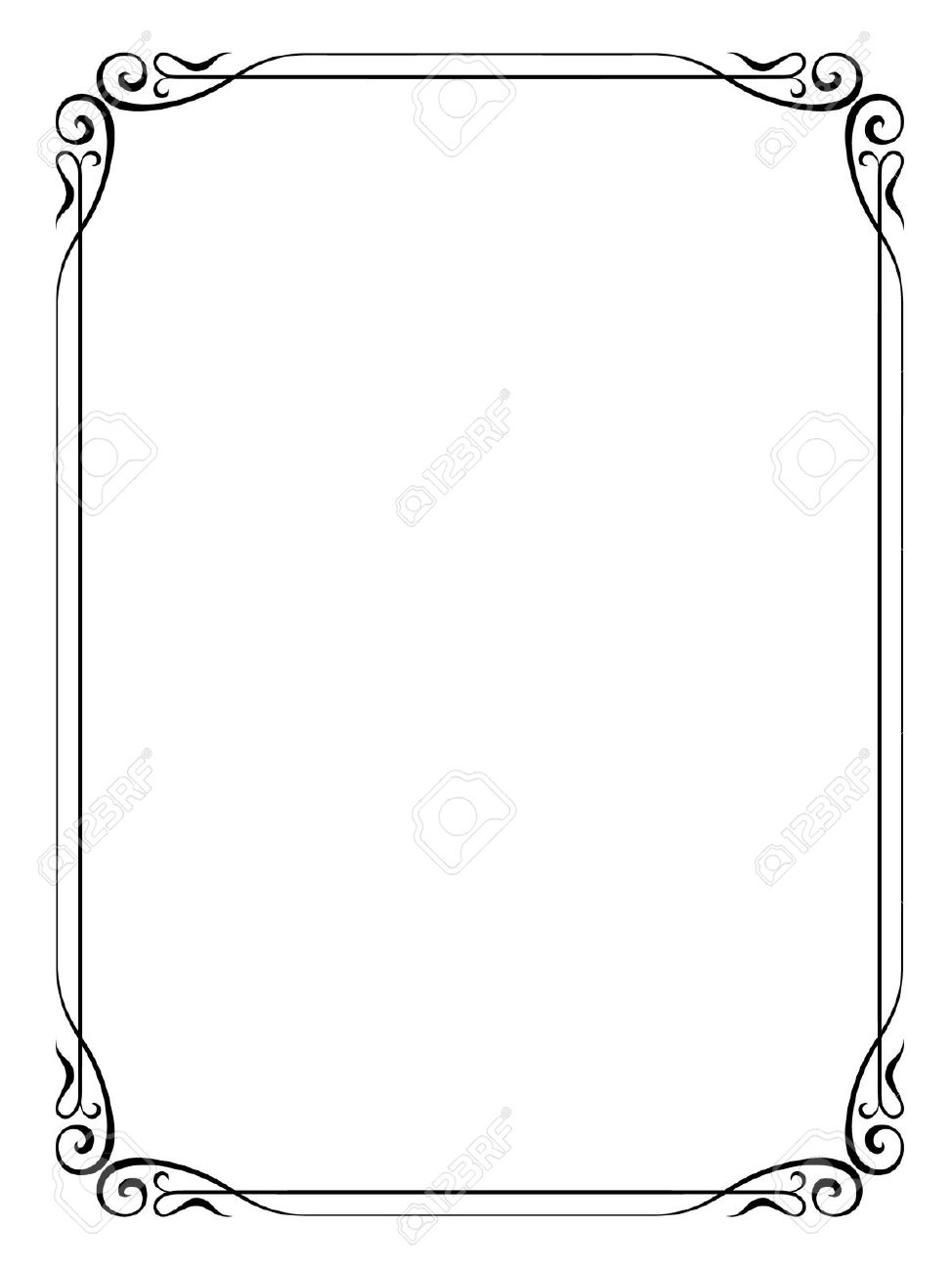 formal black and white borders for word.