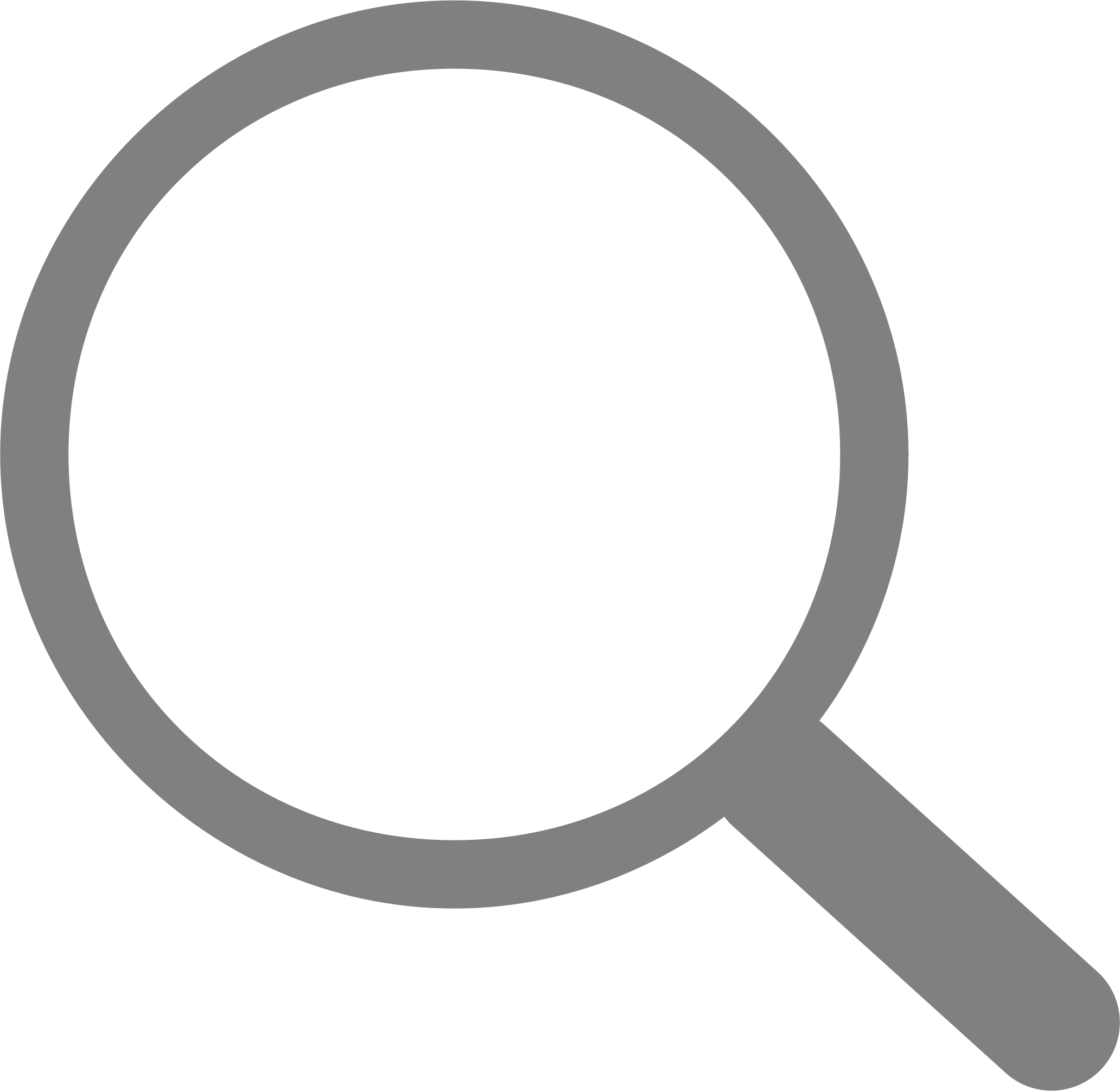 Simple Grey Search Icon transparent PNG.