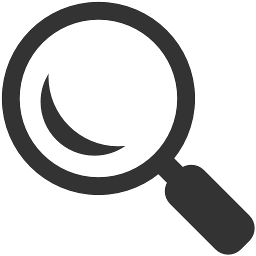 Cartoon Search Icon transparent PNG.