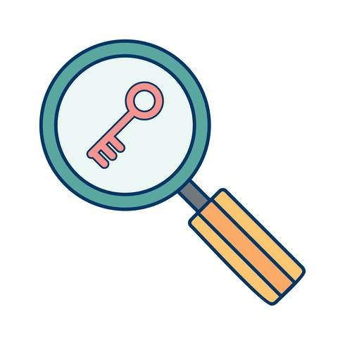 Vector Keyword Search Icon.