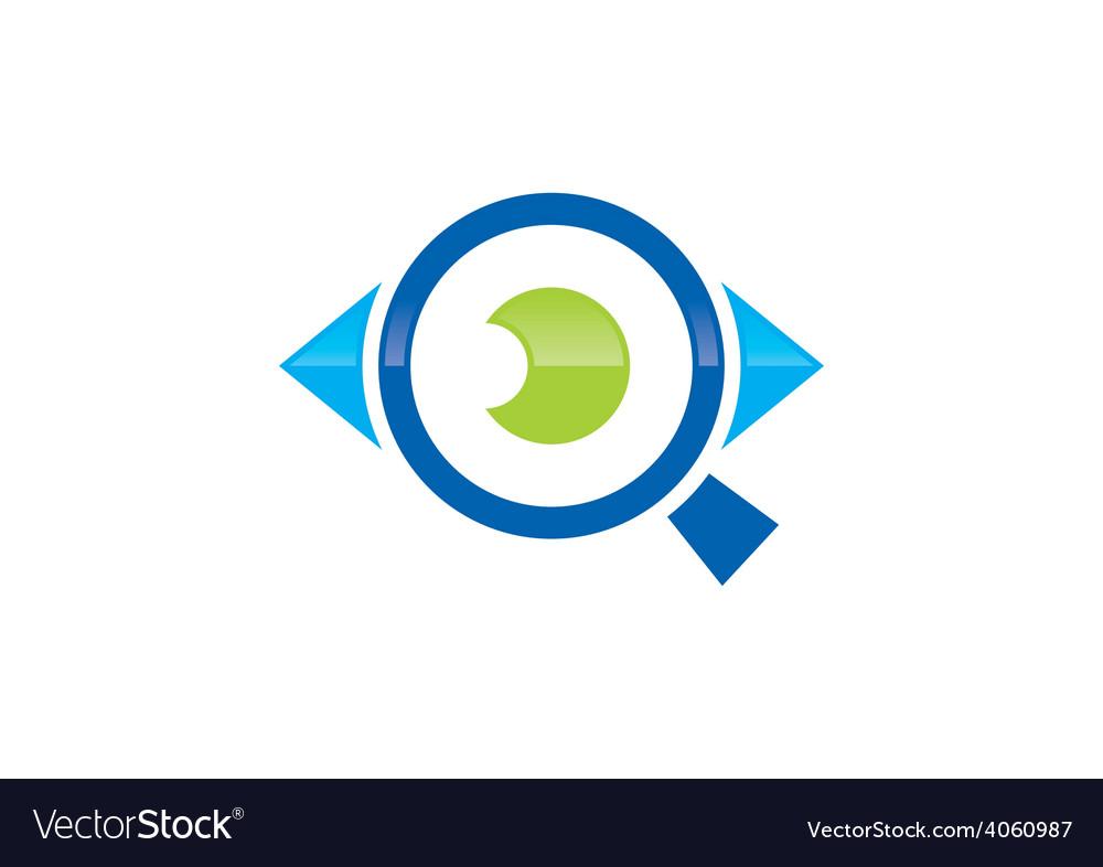 Eye vision search logo.