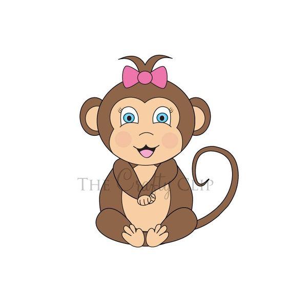 Baby Monkey Clip Art.