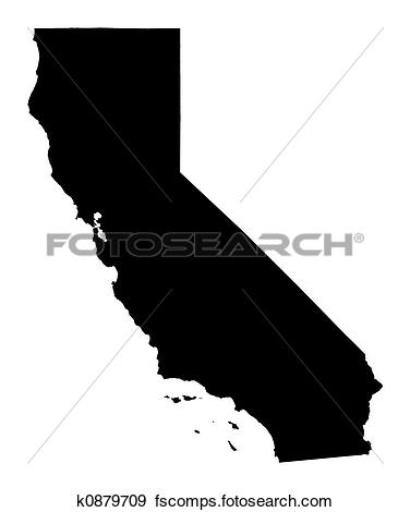 California Map Clipart.