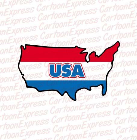 Us Map Cartoon Clipart.