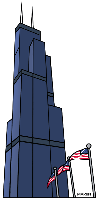 Sears tower clipart.