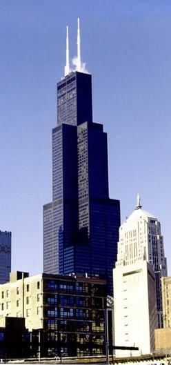 Chicago Sears Tower Clip Art.