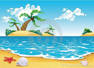 Seascape Stock Illustrations.