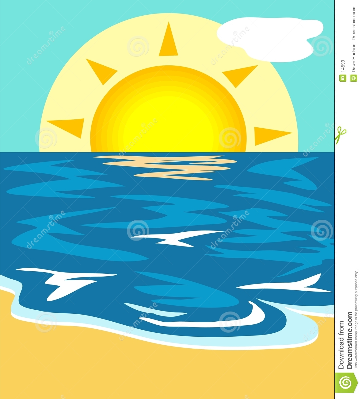 Seascape Free Clipart.