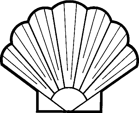 Seashell Clipart Black And White.