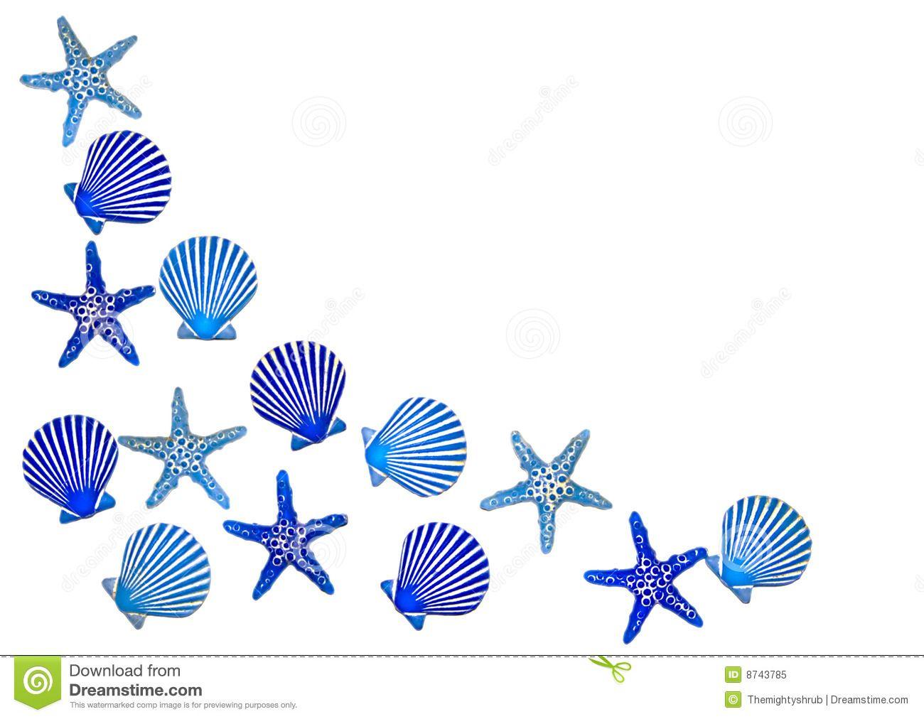 Starfish Border Clip Art Divider.