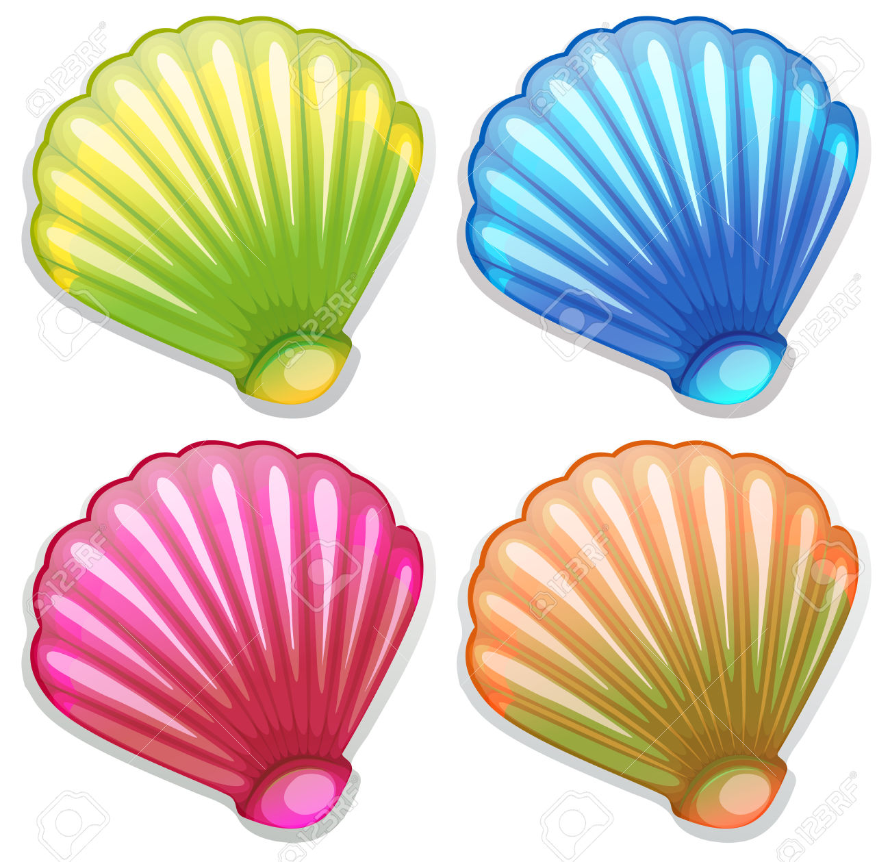 Seashell images clip art.