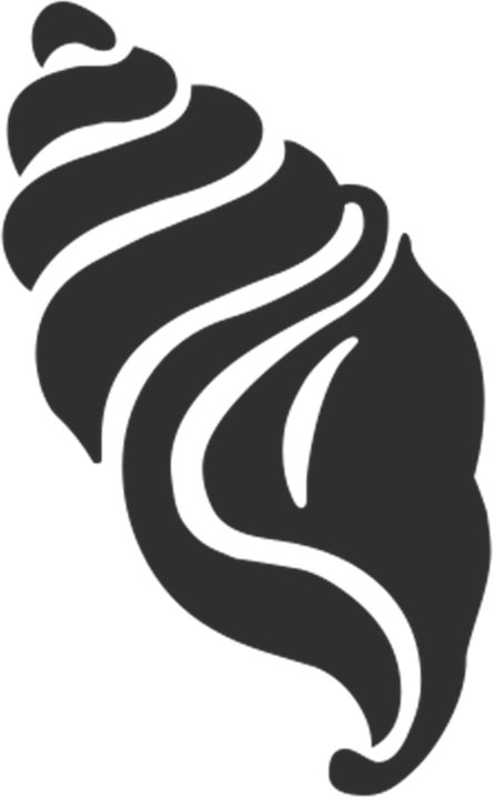Clip art Seashell Image Silhouette Illustration.
