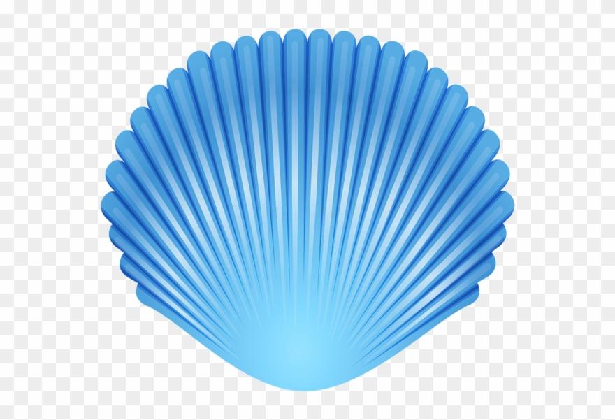 Blue Seashell Transparent Png Clip Art Image.