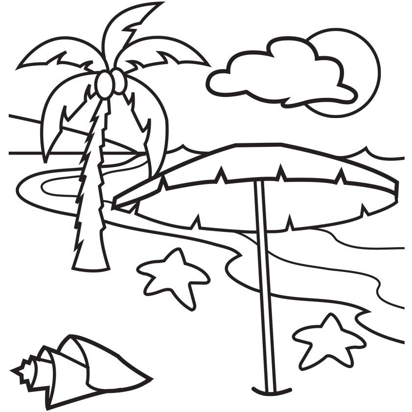 Free Beach Umbrella Coloring Pages, Download Free Clip Art.