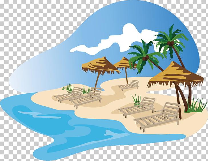 Beach , Beach island, beach illustration PNG clipart.