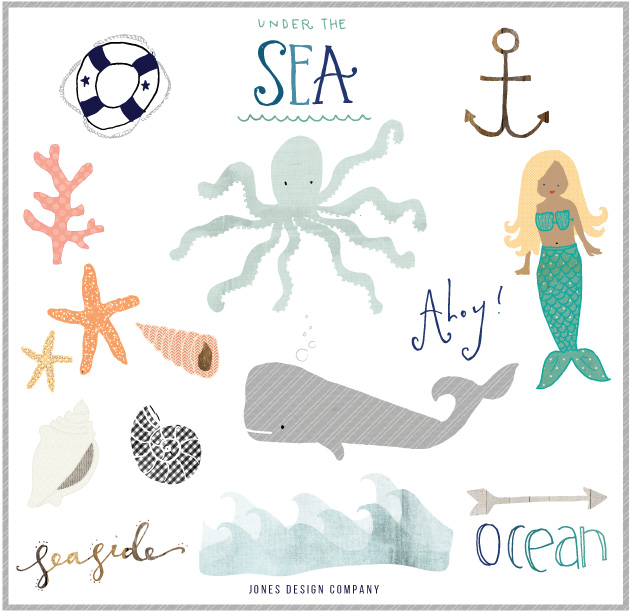 free Seaside clipart and how to use it.