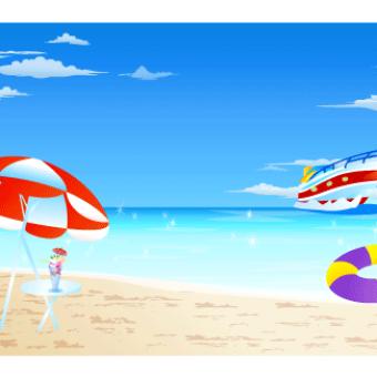 Free Seaside Resort Vector Image.