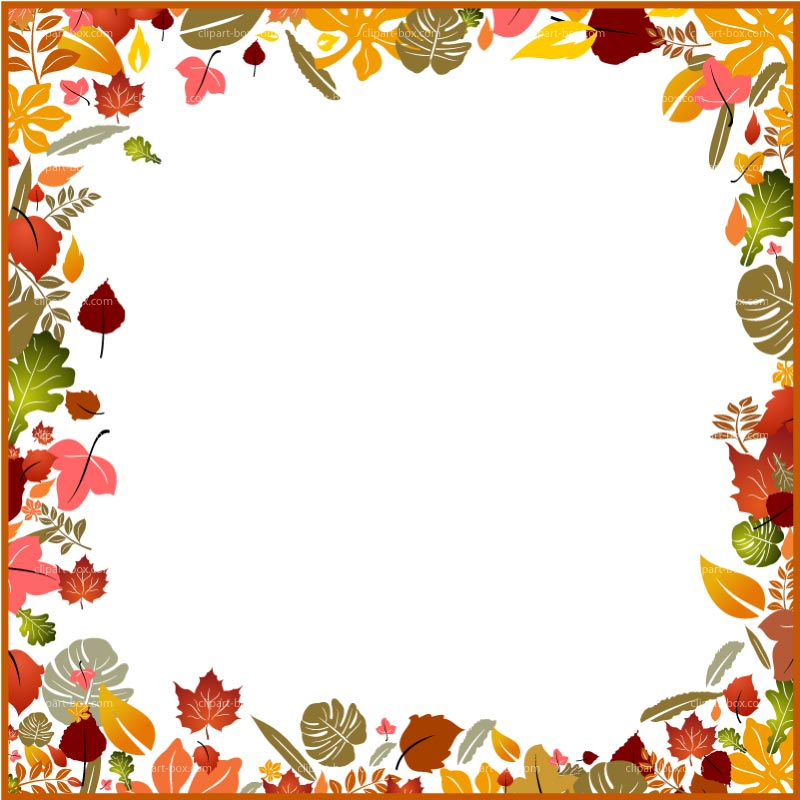 Fall border autumn borders clipart 2.