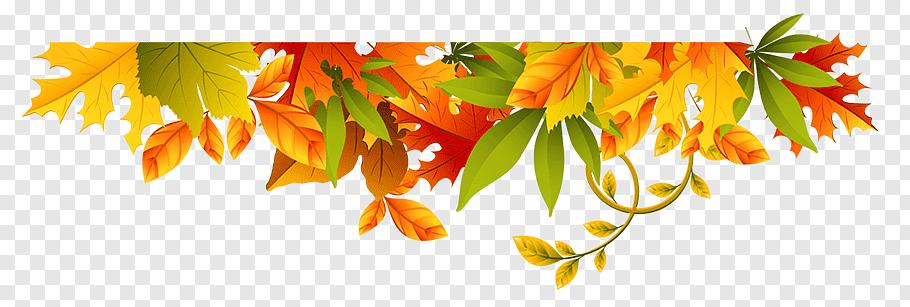 Autumn Tree Branch, BORDERS AND FRAMES, Seasonal Clipart.