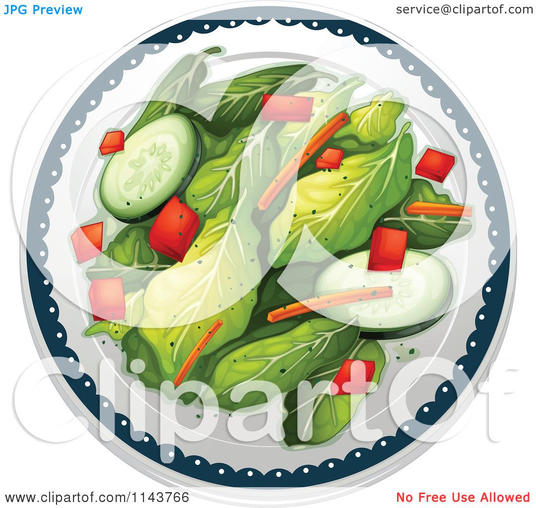 Cartoon Of A Seasoned Salad.