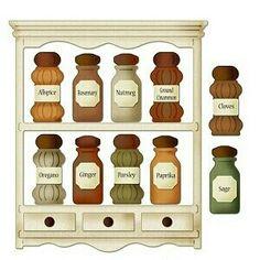 Spice jar clipart.