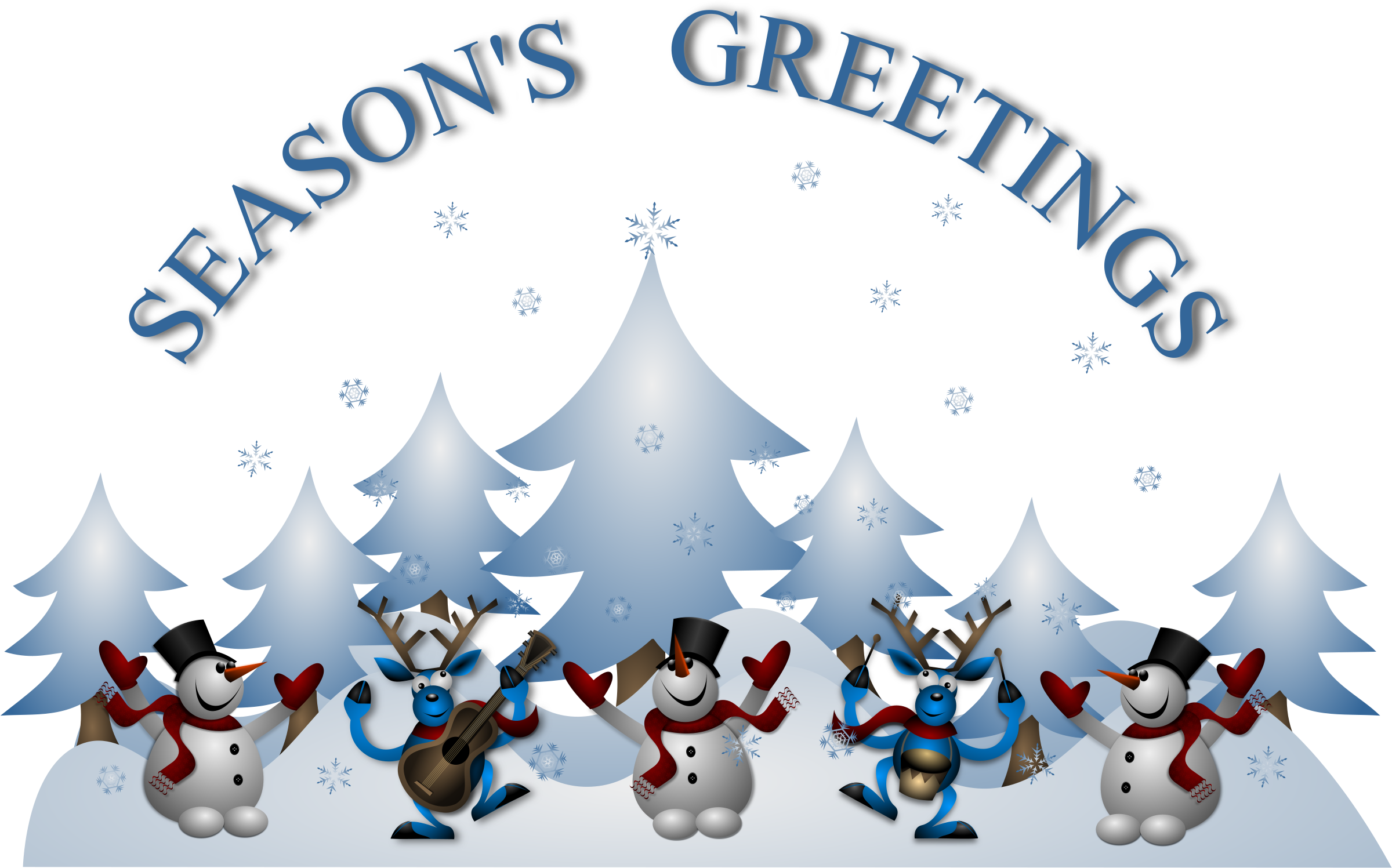71+ Seasons Greetings Clipart.