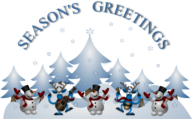 Free Clipart: Seasons Greetings Card Front.