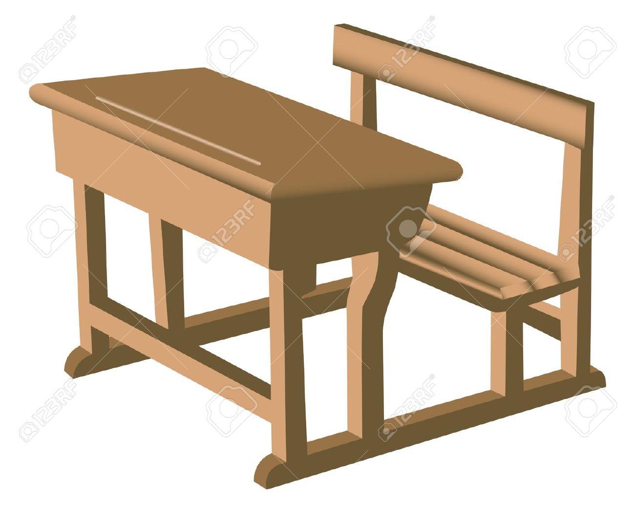 School bench clipart.