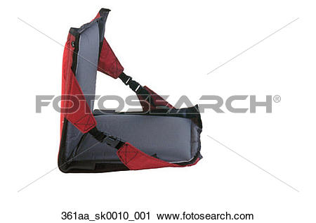 Stock Photography of Portable Stadium Seat Cushion Studio Portrait.