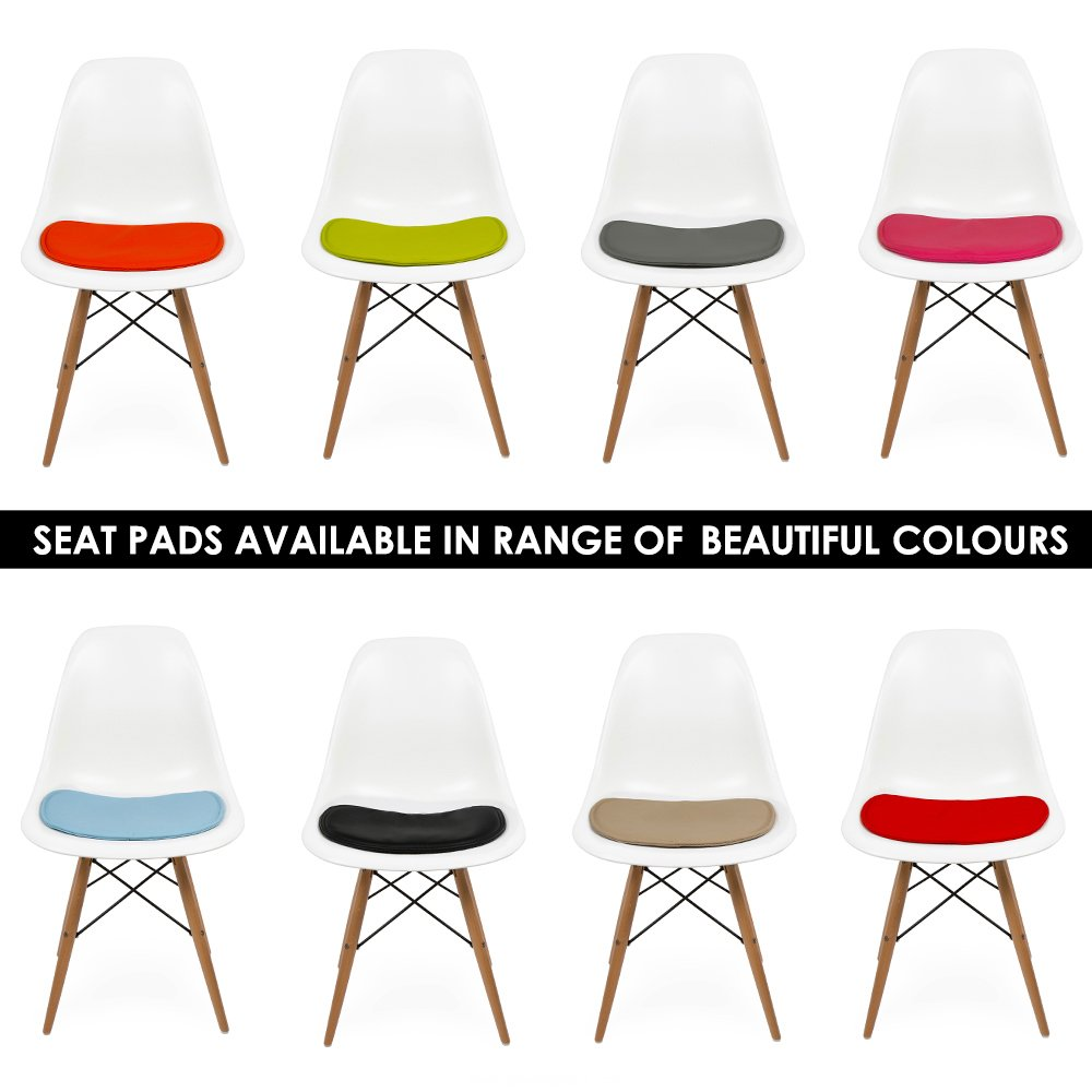 Seat Pad Cushions for Eames DSW or DSR Side Chairs.