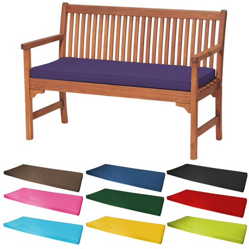 Outdoor Waterproof 2 Seater Bench / Swing Seat Cushion ONLY Garden.