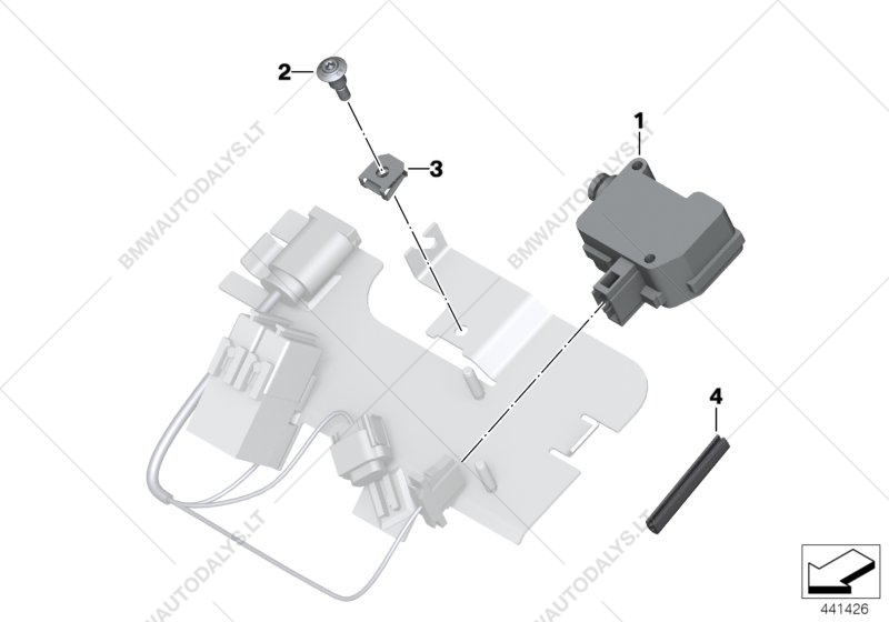 Bench seat lock, official vehicle, elec. for BMW K52 (R 1200 RT.