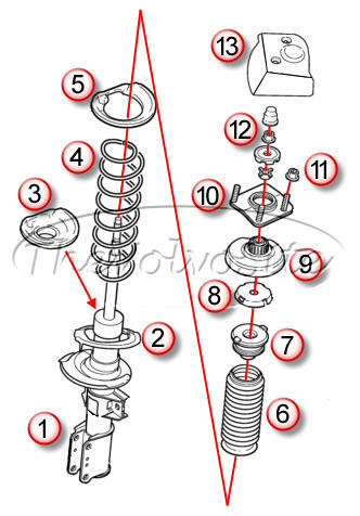 VOLVO S80 SUSPENSION FRONT 1999.