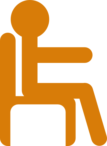 Seated man clipart.