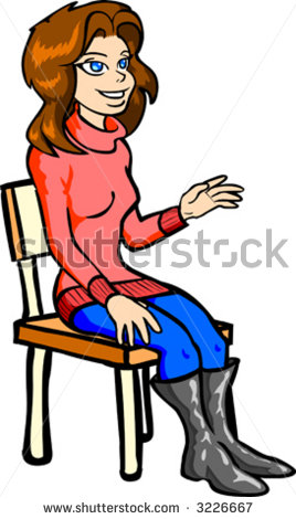 Woman Sitting Clip Art.