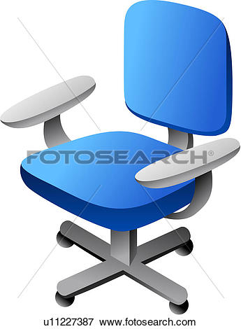 Clip Art of furniture, office chair, seating furniture, chair.