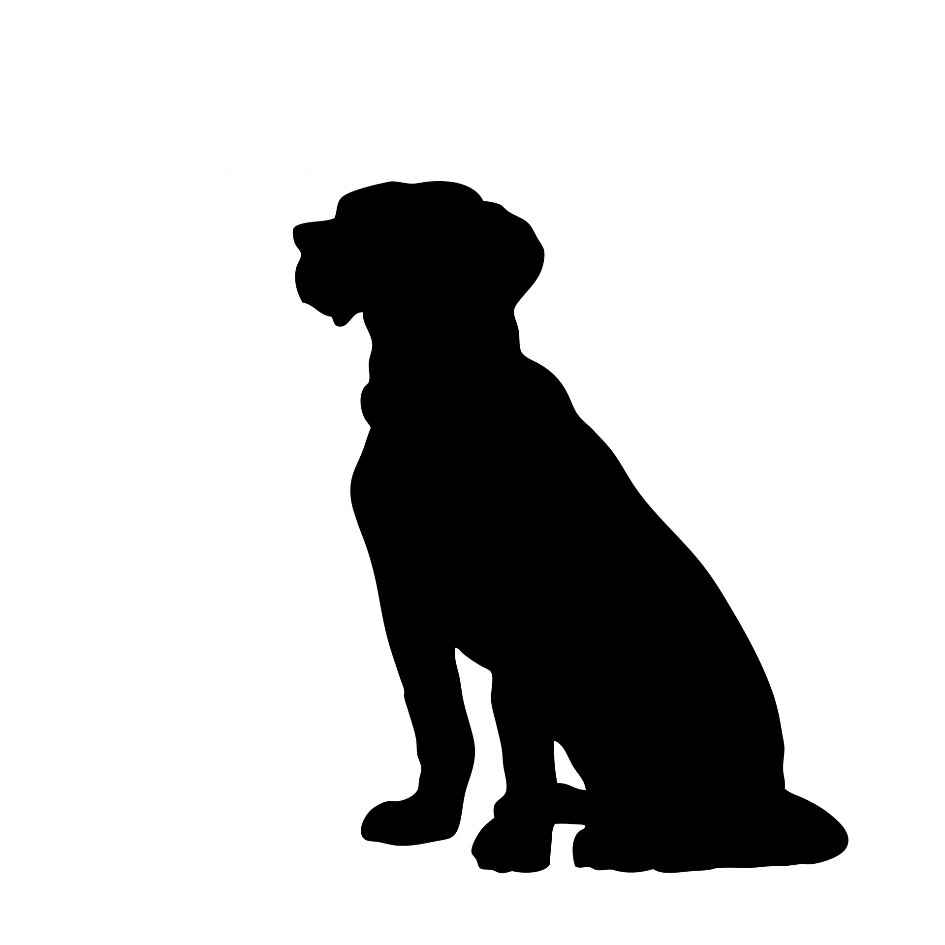 Flocked dog clipart.