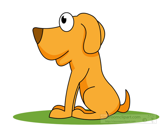 Dog clipart sitting.