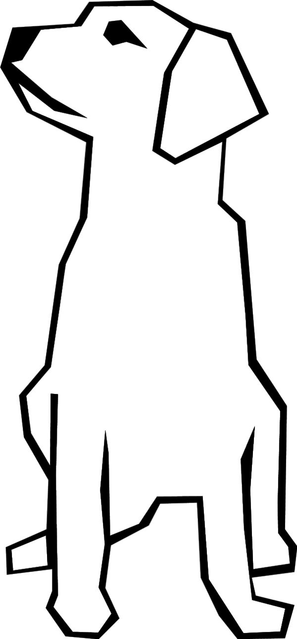 Sitting dog clipart png.