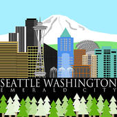 Seattle Clip Art and Stock Illustrations. 222 seattle EPS.