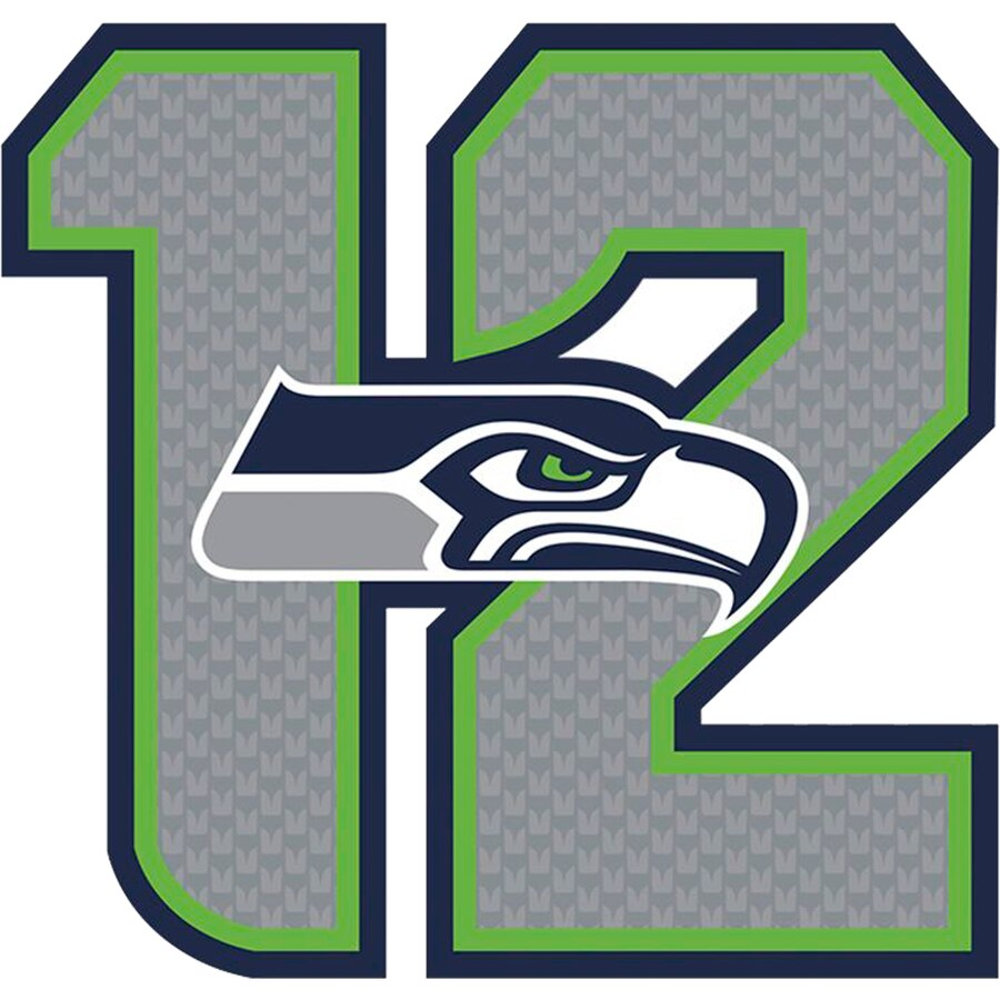 Fathead Seattle Seahawks 12s Giant Removable Decal.