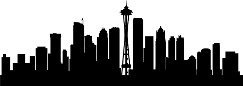 Free Seattle Skyline Outline, Download Free Clip Art, Free.