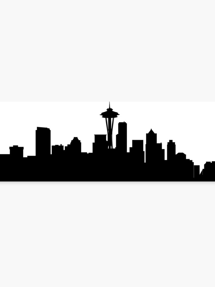 Black and White Seattle Skyline.