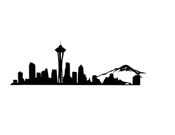 Seattle Skyline Decal Seattle Decal Space Needle.