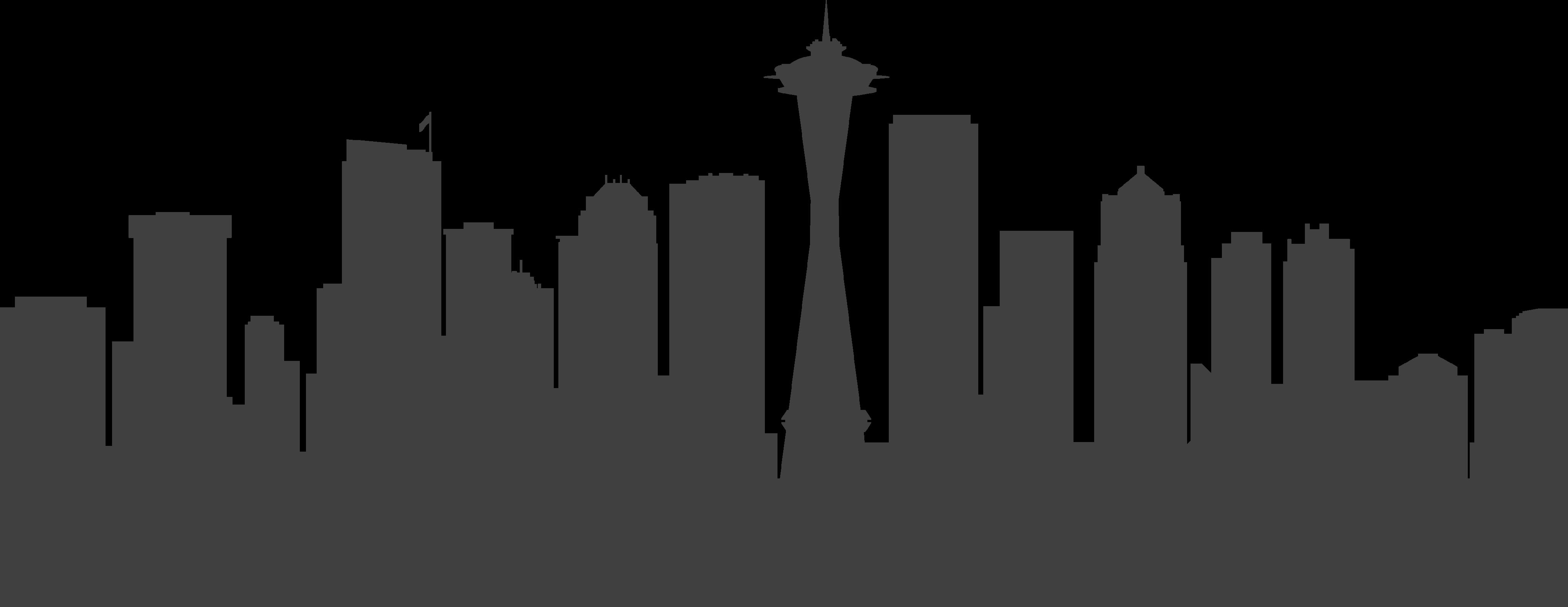 Seattle Vector graphics Skyline Stock illustration.