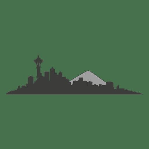 Seattle Skyline Silhouette.