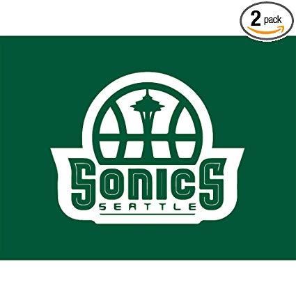 Amazon.com: NBA Seattle Supersonics Logo 2 (Green) (Set of 2.